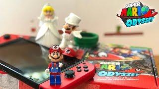Super Mario Odyssey Switch Unboxing w/ Lego Mario