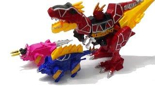 Robot siêu nhân khủng long biến hình đồ chơi lắp ráp - khủng long bạo chúa, ba sừng, lưng gai