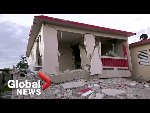 Aftermath of deadly 6.4 magnitude earthquake in Puerto Rico