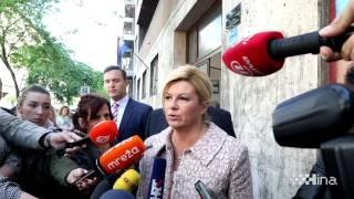 Kolinda Grabar-Kitarović izašla na biralište u Zagrebu