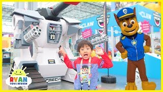 Paw Patrol Chase and Skye In Real Life and Slime, Pikmi Pop Toys with Ryan ToysReview