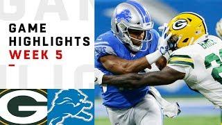 Packers vs. Lions Week 5 Highlights | NFL 2018