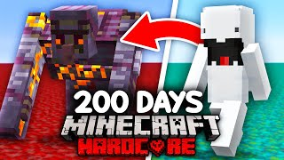I Survived 200 Days as a SHAPESHIFTER in Minecraft...
