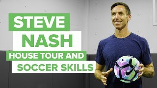 NBA All-Star with crazy soccer skills | Steve Nash house tour and boot collection