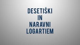 Desetiški in naravni logaritem