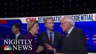 Elizabeth Warren And Bernie Sanders Shy Away From Tuesday Night Feud | NBC Nightly News