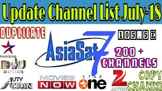 ASIASAT 7 #105 5 ADVANCE SETTING AND CHANNEL LIST 2018 - DISH NEWS