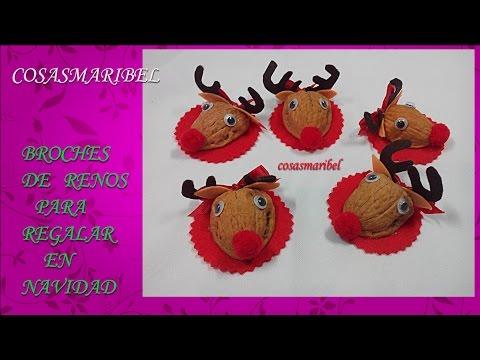 Manualidades navideñas.Broche de reno,detalles navideños para regalar.Chritsmas ornaments