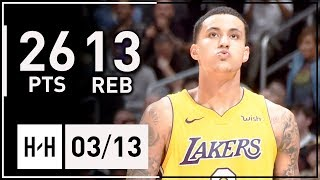 Kyle Kuzma Full Highlights Lakers vs Nuggets (2018.03.13) - 26 Points, 13 Reb