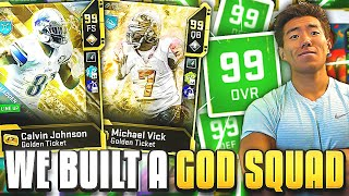 WE CREATED A GOD SQUAD! ALL 99 OVERALLS! Madden 20 Ultimate Team