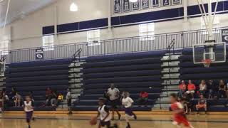 Kobe Plata #11  9u in white assist lay up and jump shot in a hard fought game we win championship