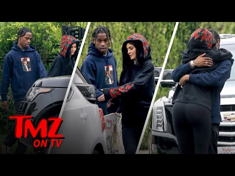 Travis Scott Gets A Handful Of Kylie Jenner | TMZ TV