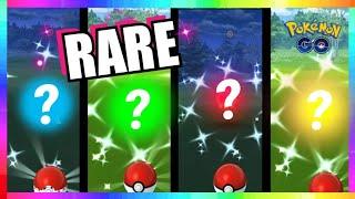 CATCHING 4x DIFFERENT SHINY POKEMON in Pokemon Go!