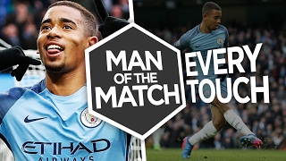 GABRIEL JESUS V SWANSEA CITY   Every Touch   Man of the Match   City 2-1 Swansea