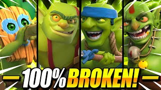 INFINITE SWARM DECK!! NEW *ALL* GOBLIN DECK IN CLASH ROYALE!!