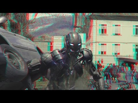 Avengers : Age of Ultron - Clip (2015)(3D)(Side By Side) Vision vs Ultron