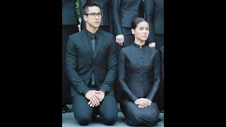 NadechYaya at TV3 on the pray for Thai King 2017