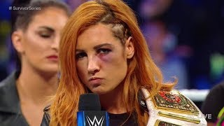 WWE News: Becky Lynch Will Not Compete a Survivor Series Due To a Broken face and Severe Concussion
