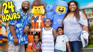 24 HOURS OVERNIGHT LEGOLAND CHALLENGE! ZZ Kids TV Family Vacation VLOG