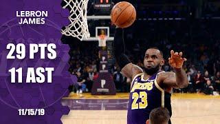 LeBron James dunks all over Nemanja Bjelica in Lakers vs. Kings | 2019-20 NBA Highlights