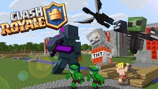Monster School : Fighting Clash Royale & Alex - Minecraft Animation