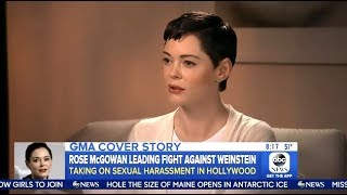 Rose Mcgowan - Calling For  Weinstein's Board To Resign - GMA