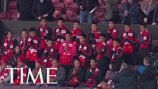Boys Rescued From Thai Cave Attend A Manchester United Match | TIME