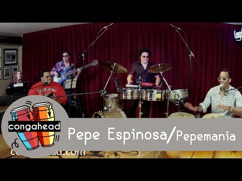 Pepe Espinosa performs Pepemania for congahead.com