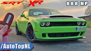 888HP DODGE HELLCAT XR WIDEBODY | REVIEW POV on AUTOBAHN (NO SPEED LIMIT) by AutoTopNL