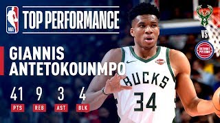 Giannis Posts PLAYOFF CAREER-HIGH 41 Points in Close-Out | April 22, 2019