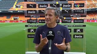 Calentamiento Valencia CF vs Real Valladolid CF