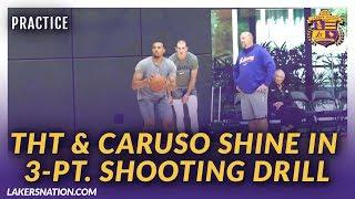 Lakers Practice: Talen Horton-Tucker & Alex Caruso Shine In 3-Pt. Shooting Drill
