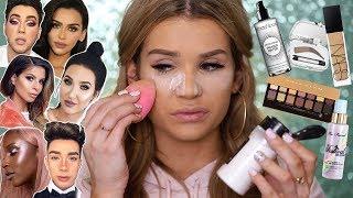 Full Face TESTING BEAUTY GURUS Makeup FAVORITES! WORTH it or TOSS it?!