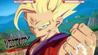 Kazunoko (Teen Gohan Kid Buu Goku) Vs (Aniki Piccolo Gohan Yamcha) Commentary practice