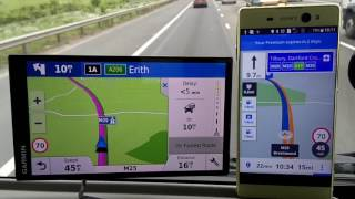 Sygic vs Garmin 61 satnav