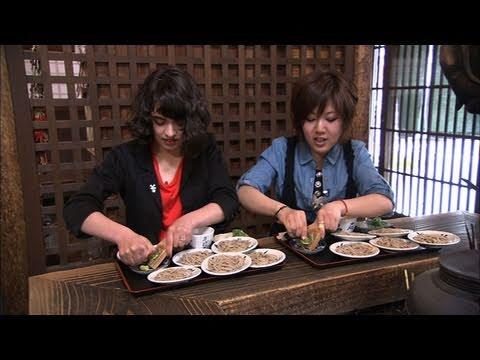 Healthy soba noodles in Izushi,Japan 出石そば