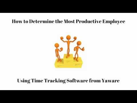 How to Determine the Most Productive Employee Using Yaware.TimeTracker