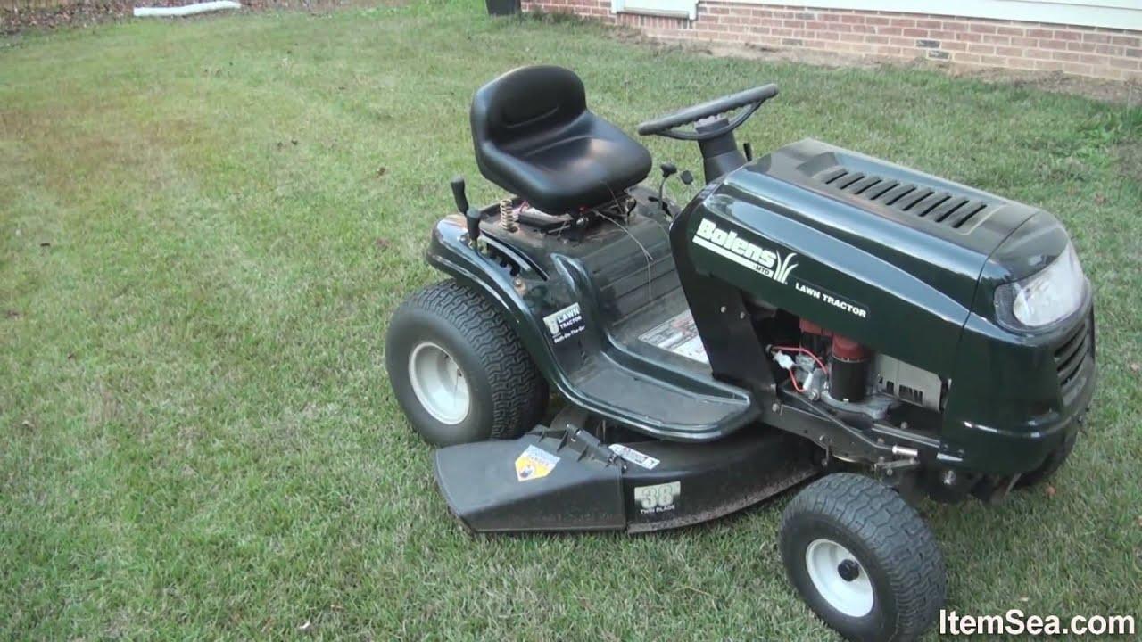 """Bolens 15 5 HP Manual 38"""" Cut Lawn Tractor (ItemSea) - YouTube"""
