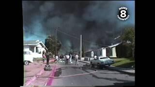 News 8 raw video of aftermath of PSA Flight 182 crash