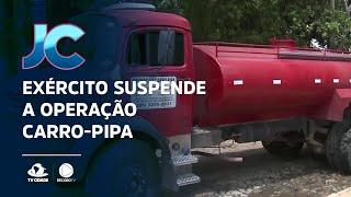 Exército suspende a operação carro-pipa em algumas regiões afetadas pela seca no Ceará