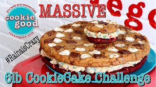 BRAND NEW 6LB COOKIE CAKE EATING CHALLENGE | CookieGood Santa Monica | RainaisCrazy