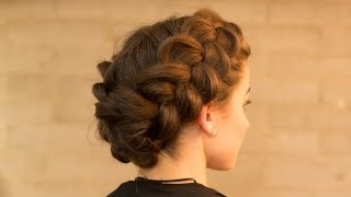 Double Dutch Braid Upstyle in Minutes