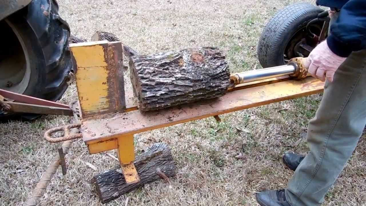 How To Build A Homemade Log Splitter The Lighthouse Lady