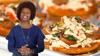 Making Vegan Mini Pizzas With Tabitha Brown