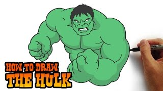 How to Draw The Hulk- Simple Step by Step Video Lesson