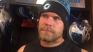 Panthers TE Greg Olsen discusses allegations of owner Jerry Richardson for misconduct