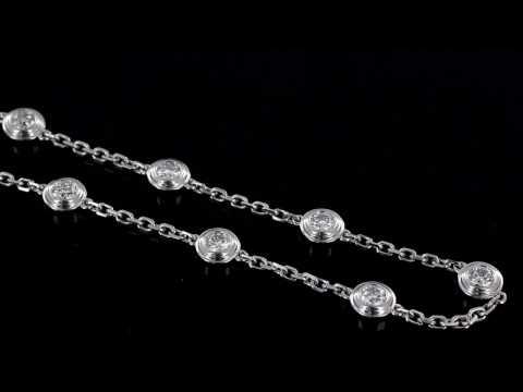 Browns Family Jewellers White Gold Diamond Set Bracelet