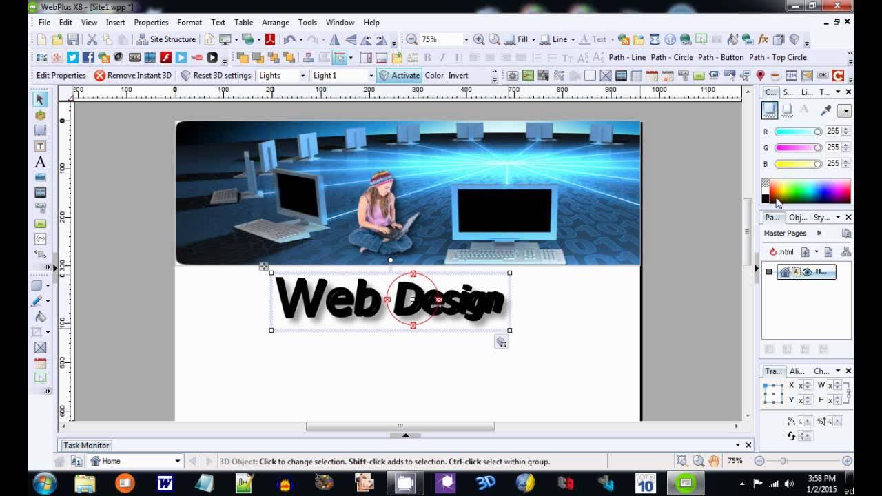 WebPlus X8 Website Editor Tutorial