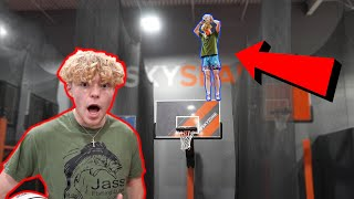 INSANE Trampoline Sky Zone Dunk Contest!