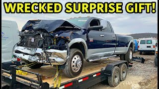Buying My Dad His Dream Wrecked Truck!!!